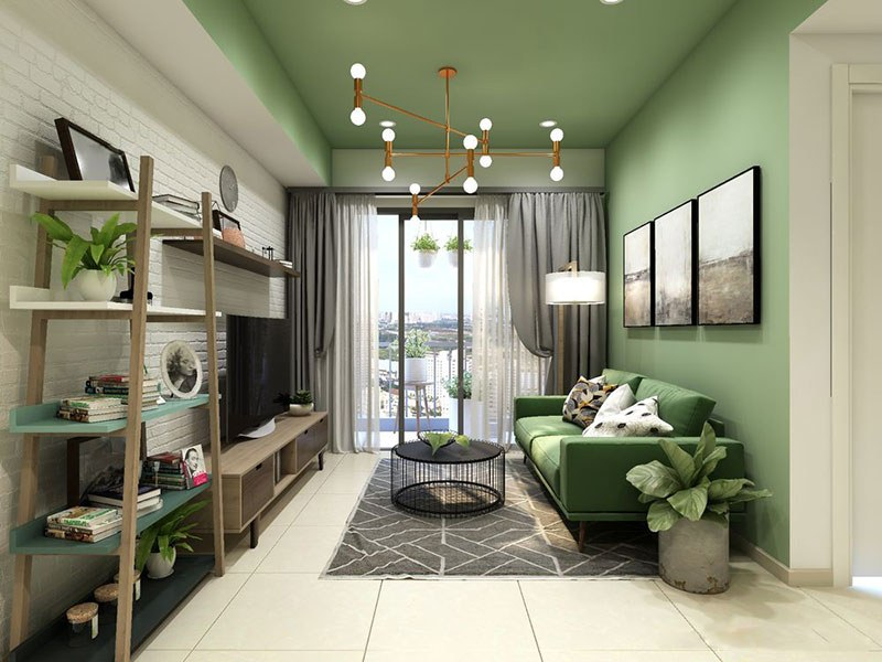 Mẫu thiết kế thi công nội thất chung cư 60m2
