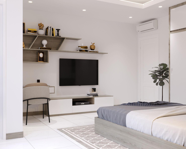 Thi công nội thất chung cư 2 phòng ngủ