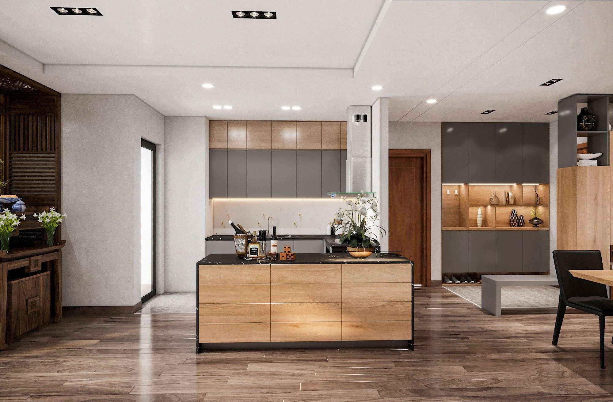 Thiết kế nội thất chung cư 3 phòng ngủ 90m2
