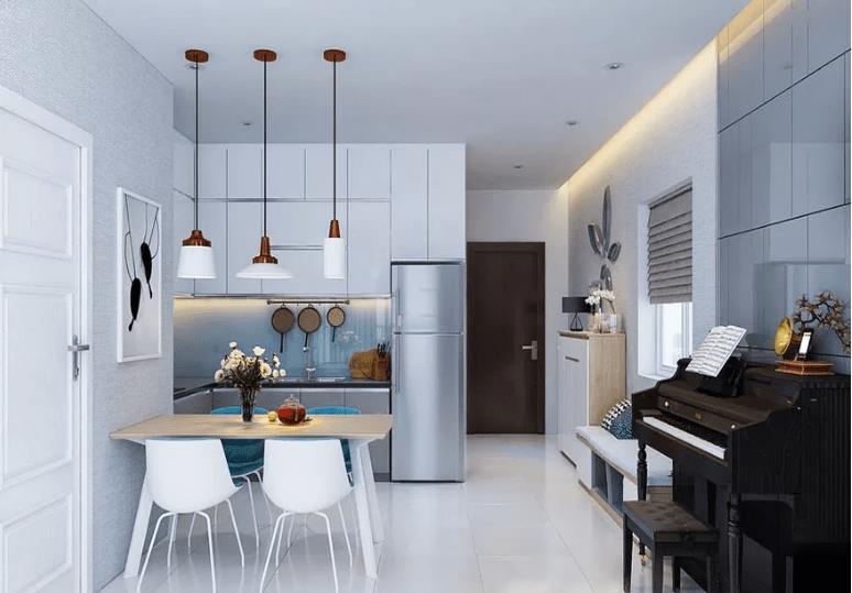 Mẫu thiết kế nội thất chung cư 58m2
