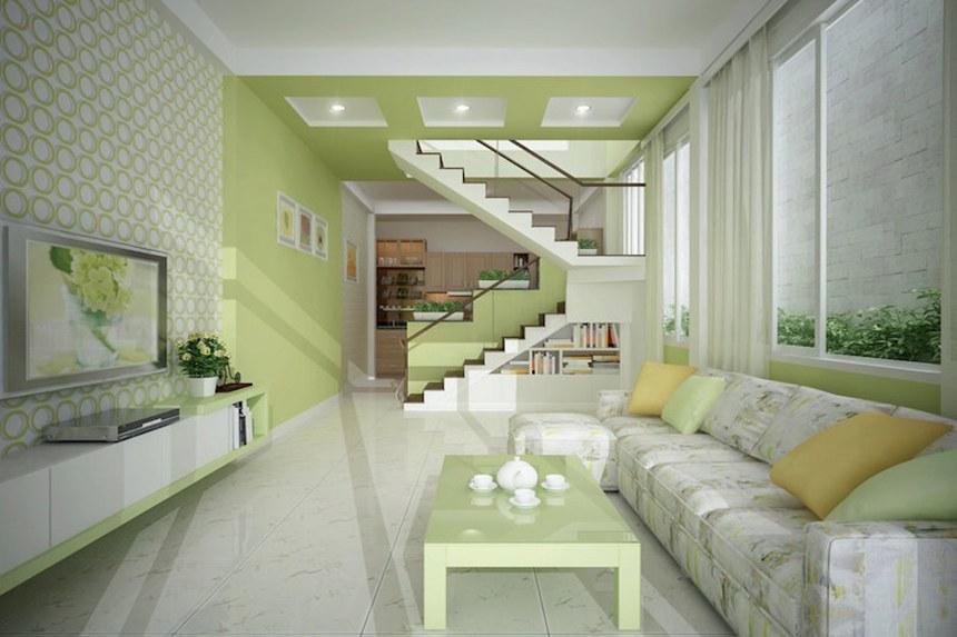 Chọn hướng thiết kế nội thất phòng khách nhà ống.