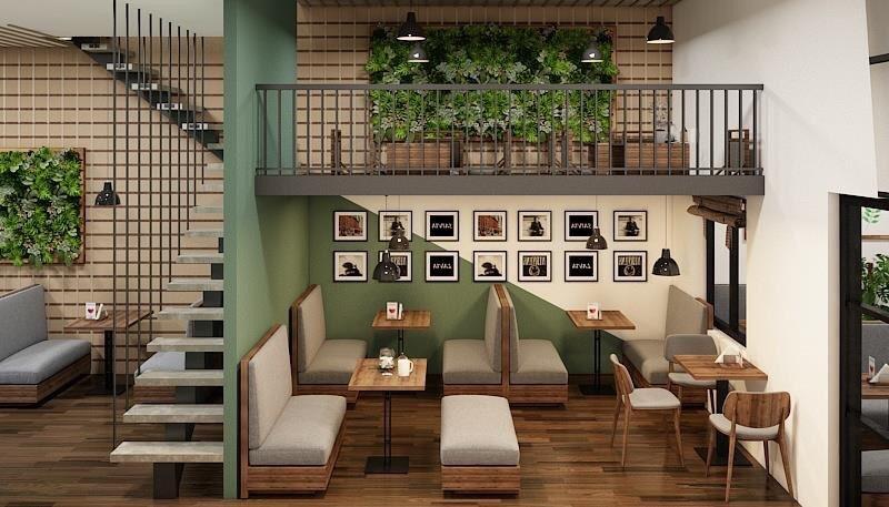 Bí quyết thiết kế quán cafe nhỏ
