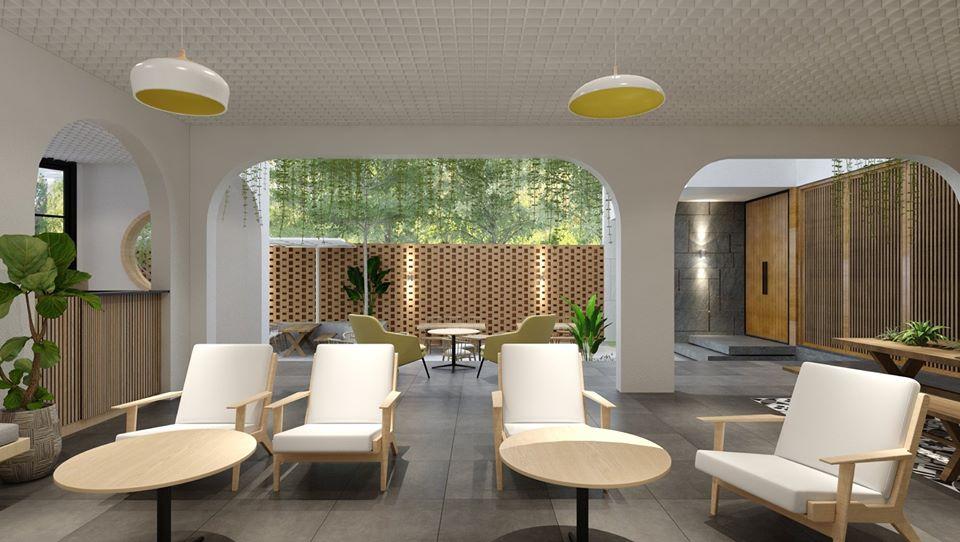Mẫu thiết kế quán cafe kết hợp nhà ở