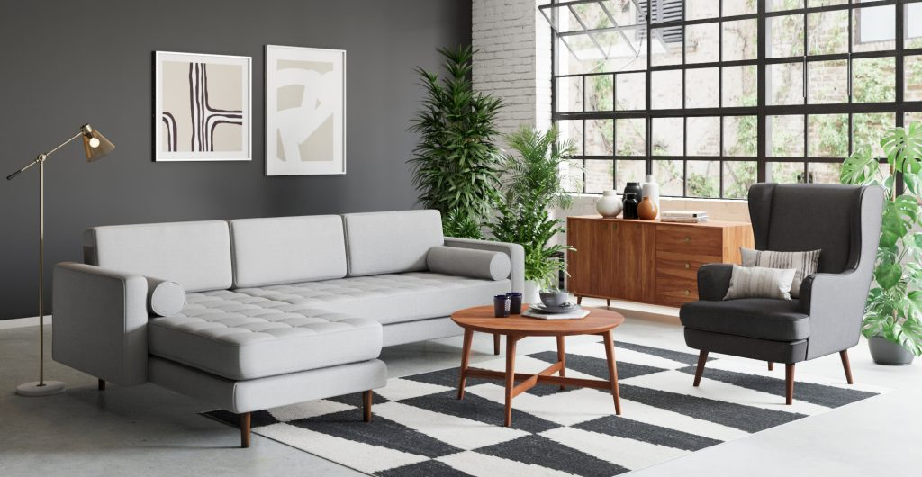 Frank 3 seater sofa with chaise